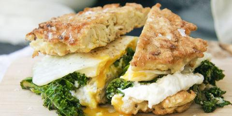 matzoh brei breakfast sandwich