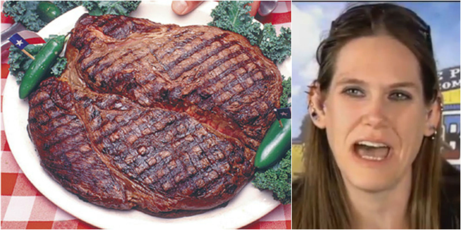 Woman Wins Contest By Eating Three 72 Ounce Steaks In