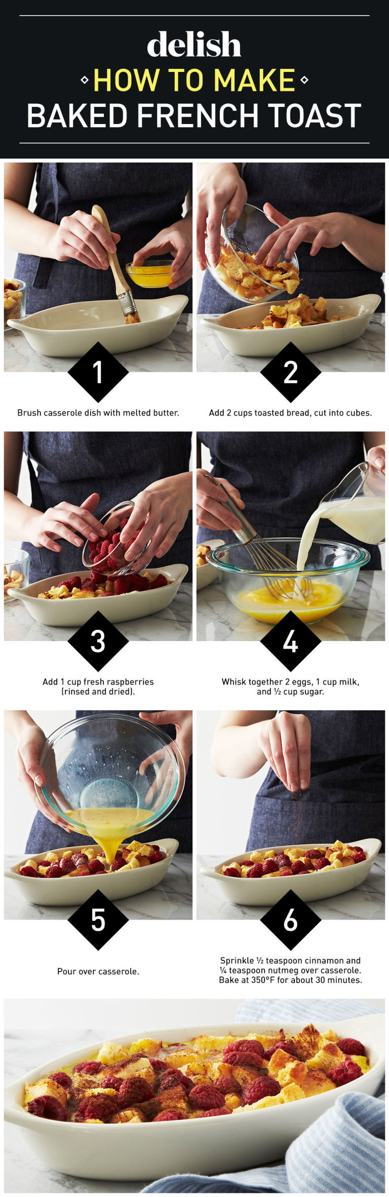 French Toast Bake Step By Step
