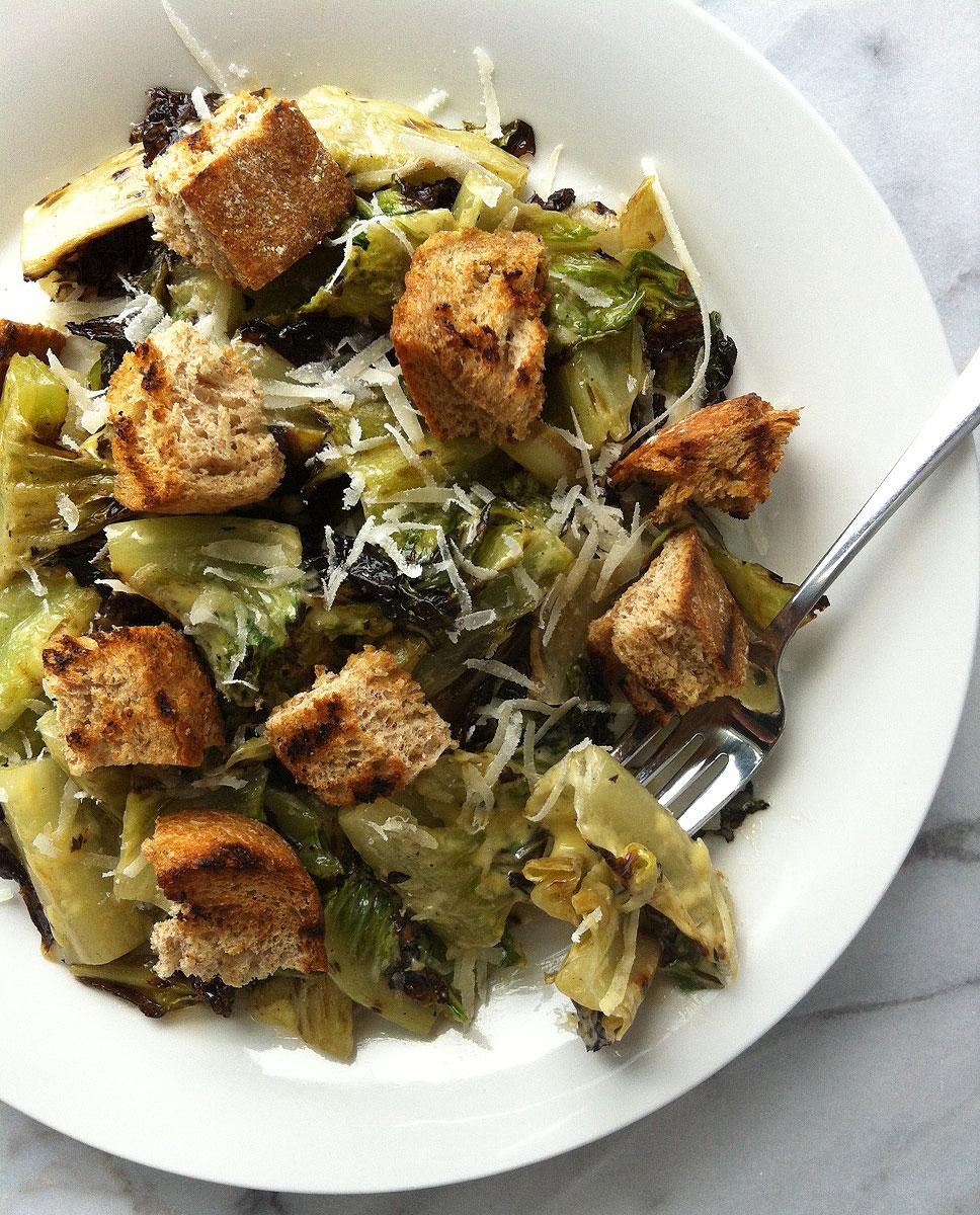 Grilled Romaine Caesar Salad Recipe