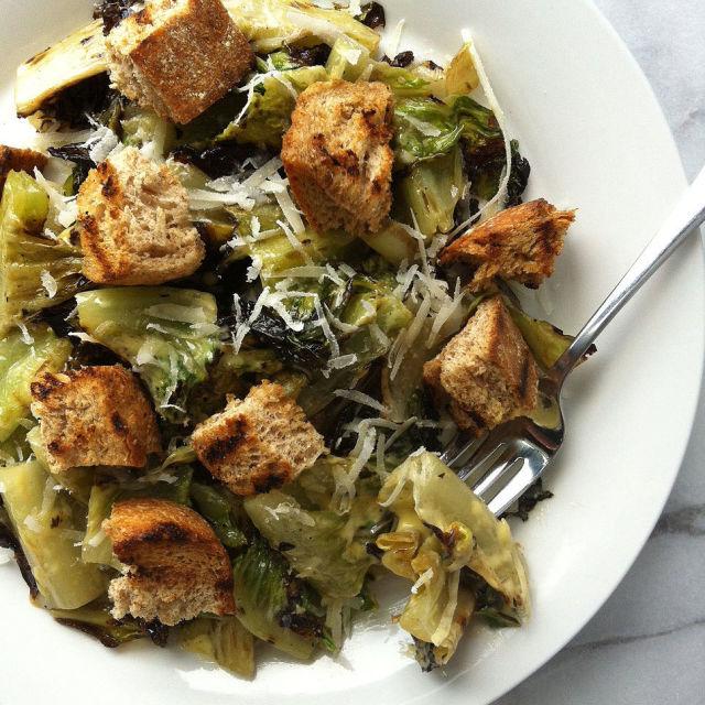 grilled romaine caesar salad