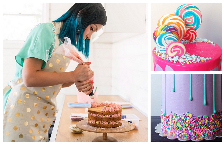 how to make vibrant dripdesign cakes like katherine sabbath