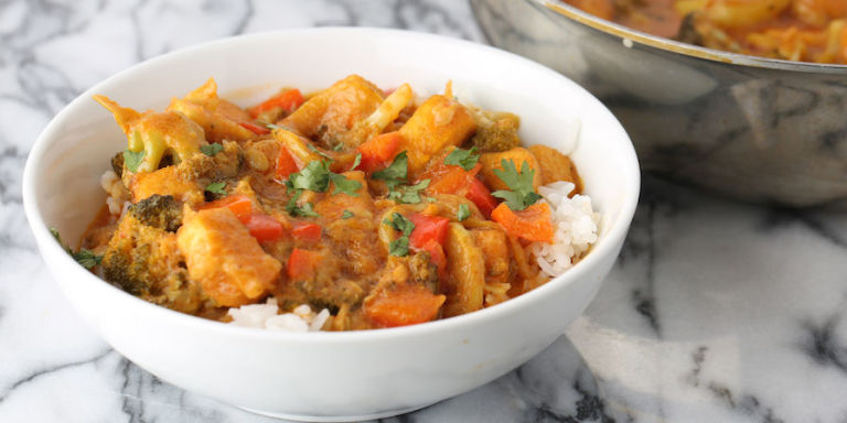 Coconut Milk and Tofu Curry