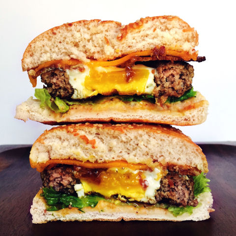 Egg in a Hole Burger Recipe