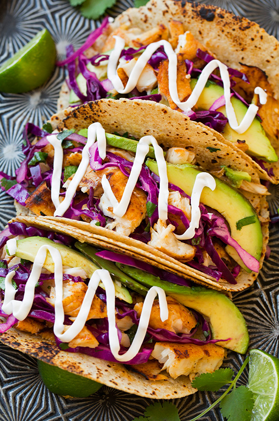 15 easy fish taco recipes how to make fish tacos for Easy slaw for fish tacos