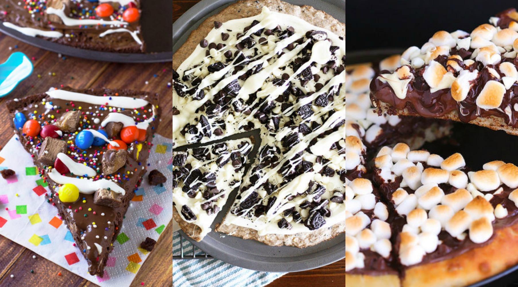 Chocolate Dessert Pizzas Recipe