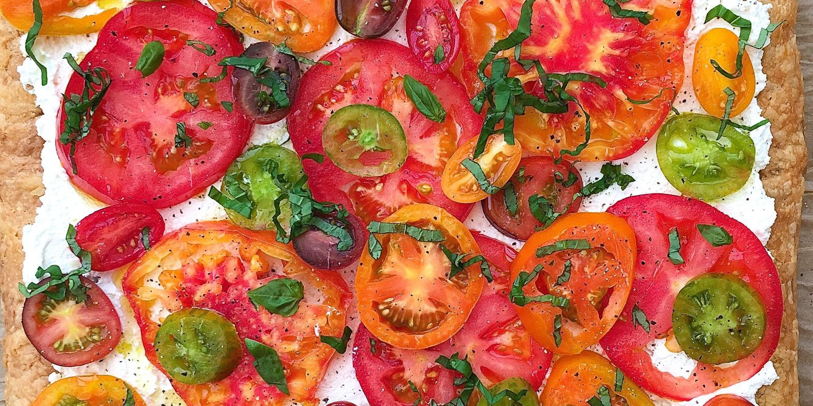 Best Heirloom Tomato Tart with Ricotta and Basil Recipe ...