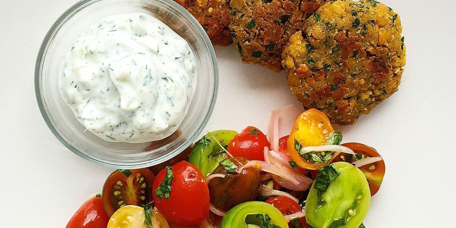 Best Crispy Chickpea Fritters with Tzatziki and Tomato ...