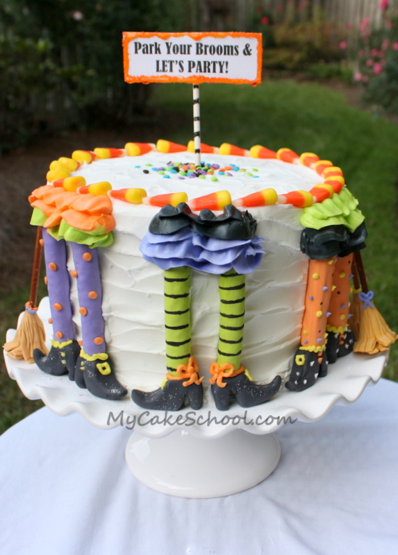 20 easy halloween cakes recipes and ideas for decorating halloween cake delishcom - Halloween Decorated Cakes