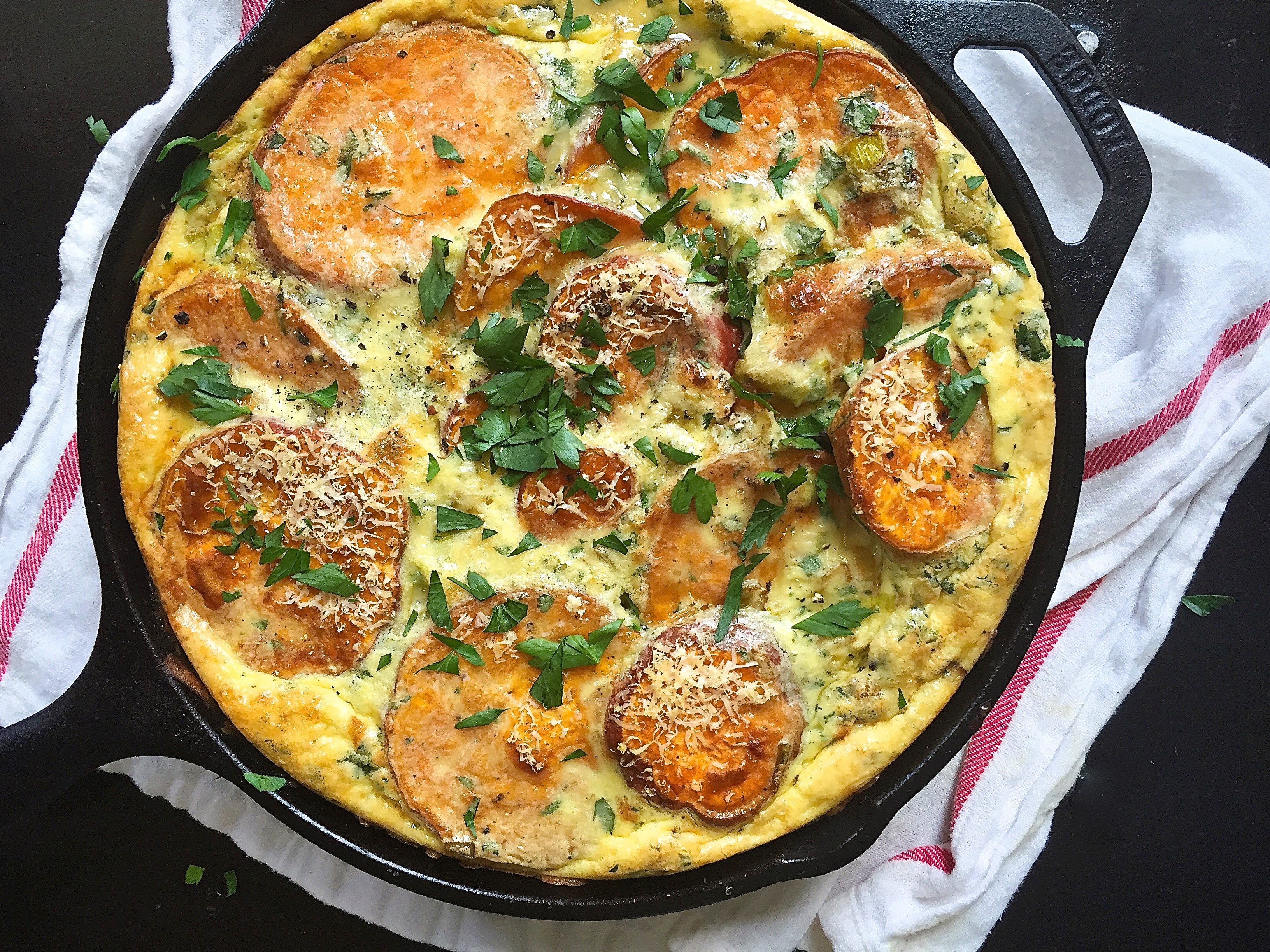 Roasted Potato Frittata Recipe — Dishmaps