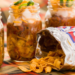 Frito pie, taco salad, and five-layer dip in a jar = winning.