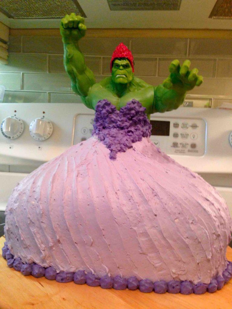 Hulk Princess Birthday Cake Crazy Cakes