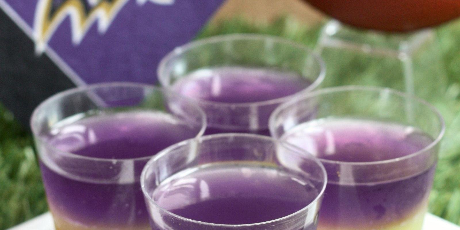 purple colored shots