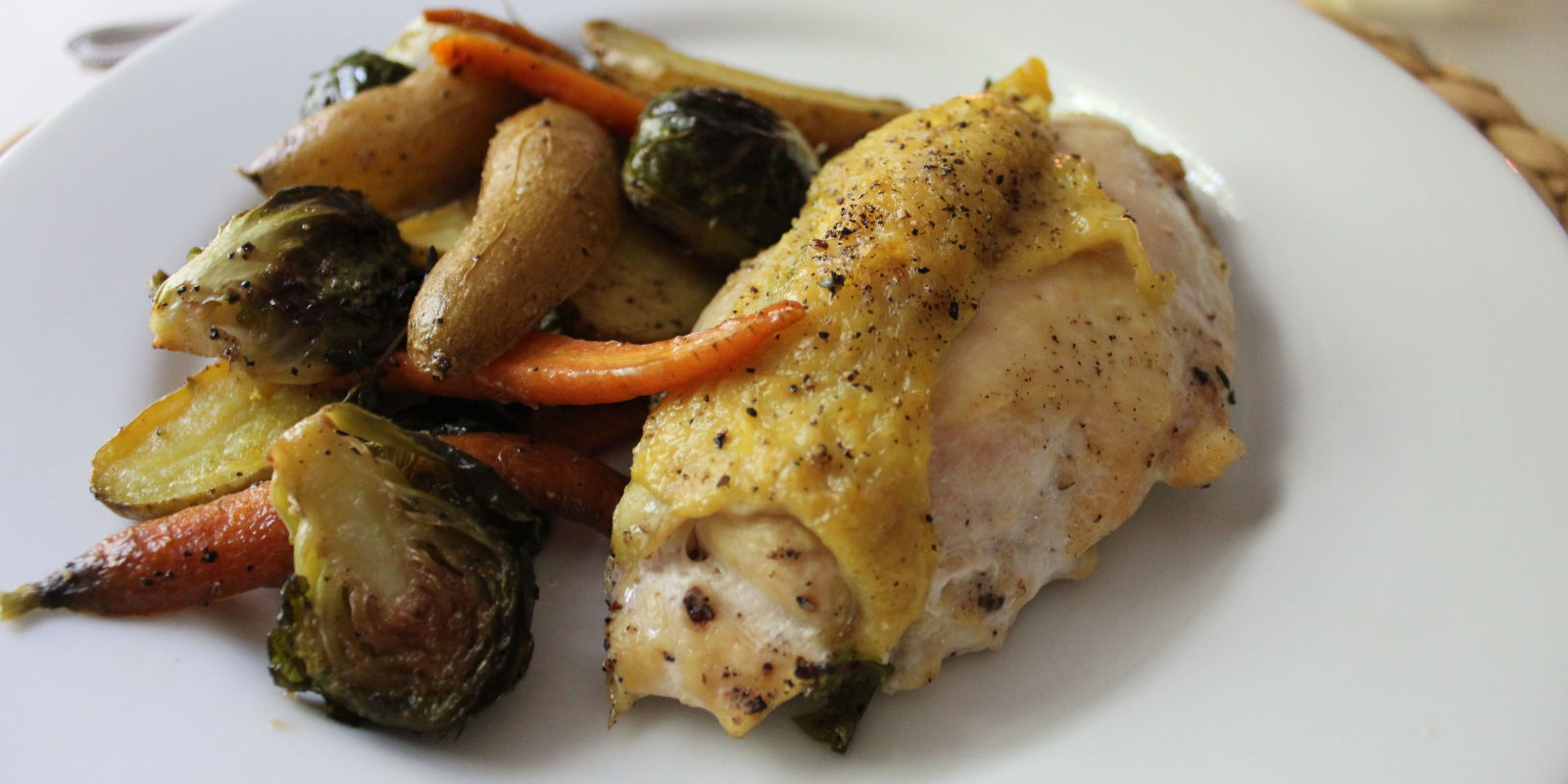 Lidey's Thyme Roasted Chicken Breasts With Autumn Vegetables