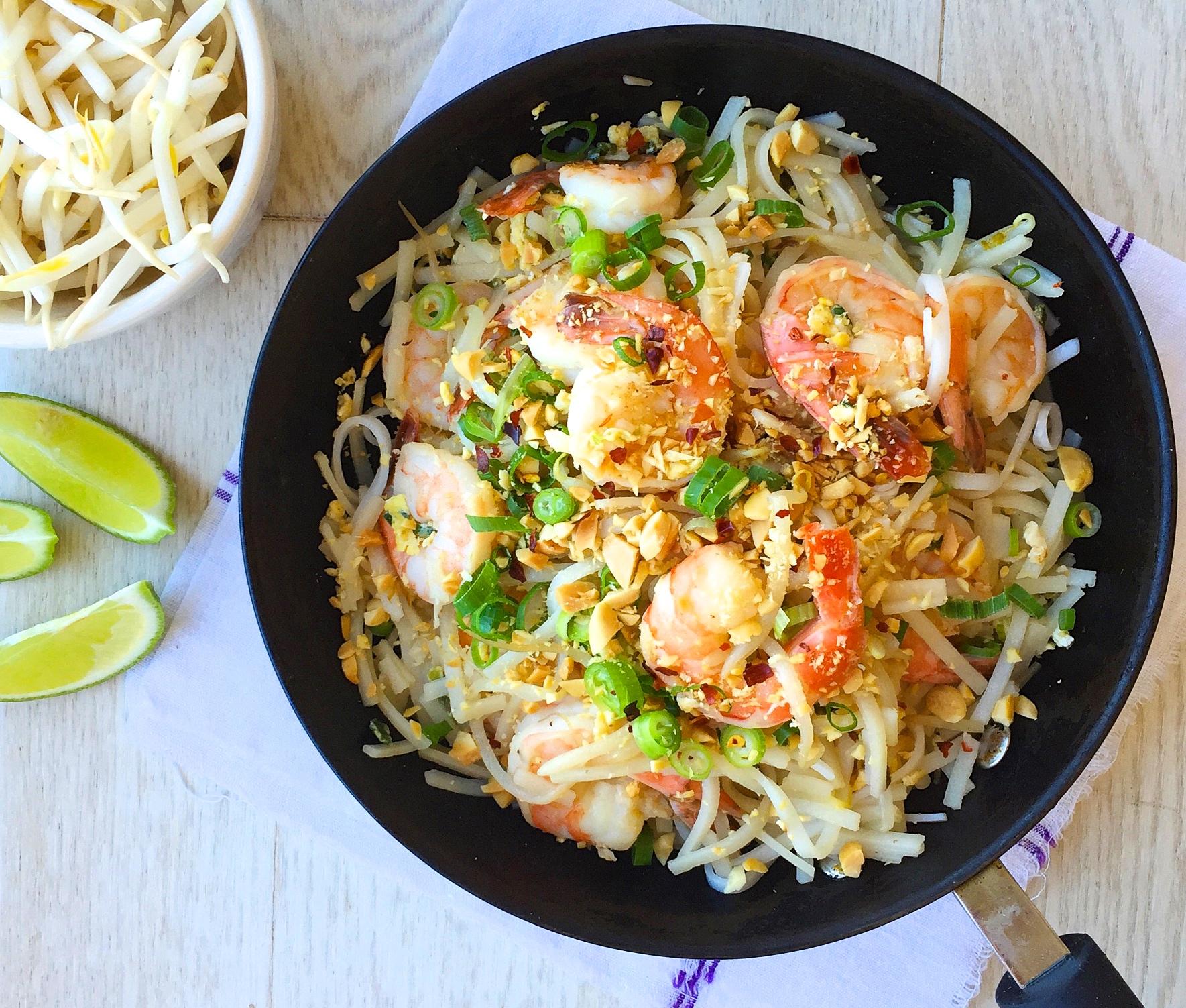 Best Easy Shrimp Pad Thai Recipe-How to Make Easy Shrimp Pad Thai ...