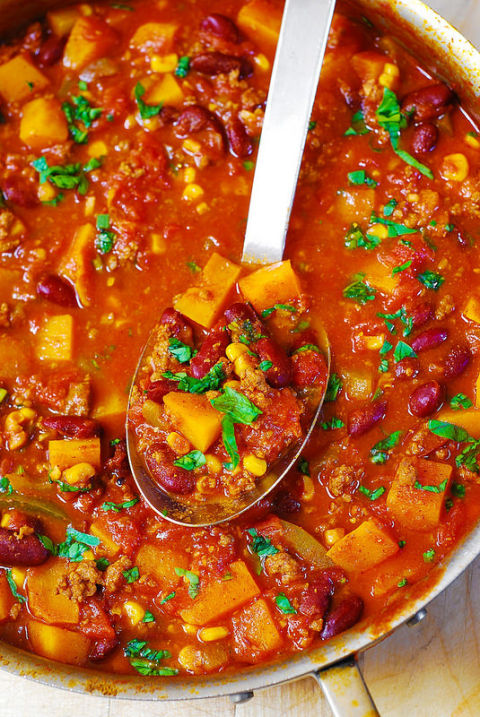 Fall produce is amaze in chili. Get the recipe from Julia's Album.