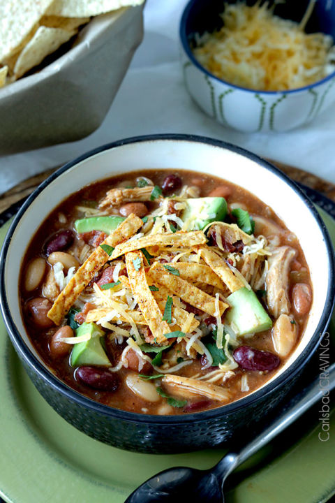 Barbecue is everything your chili has been missing. Get the recipe from Carlsbad Cravings.