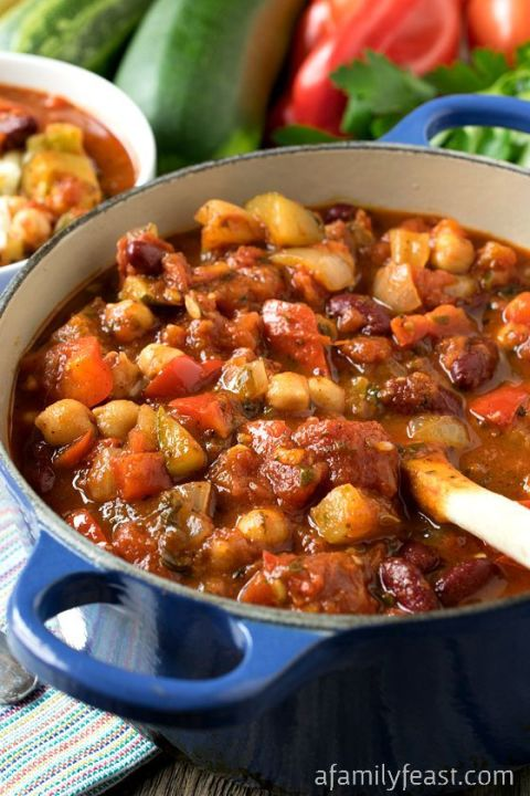 Healthy eating is better in chili form. Get the recipe from A Family Feast.
