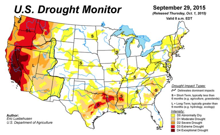 Us Drought Map California Globalinterco - Us map drought