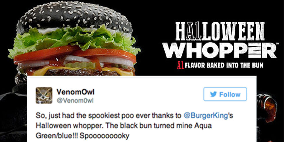 Burger King Black Halloween Whopper Turns Your Poop Green - Delish.com