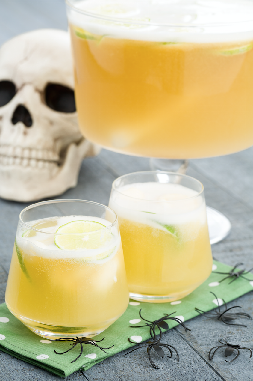 13 halloween punch recipes alcoholic fall punches delishcom - Spiked Halloween Punch Recipes