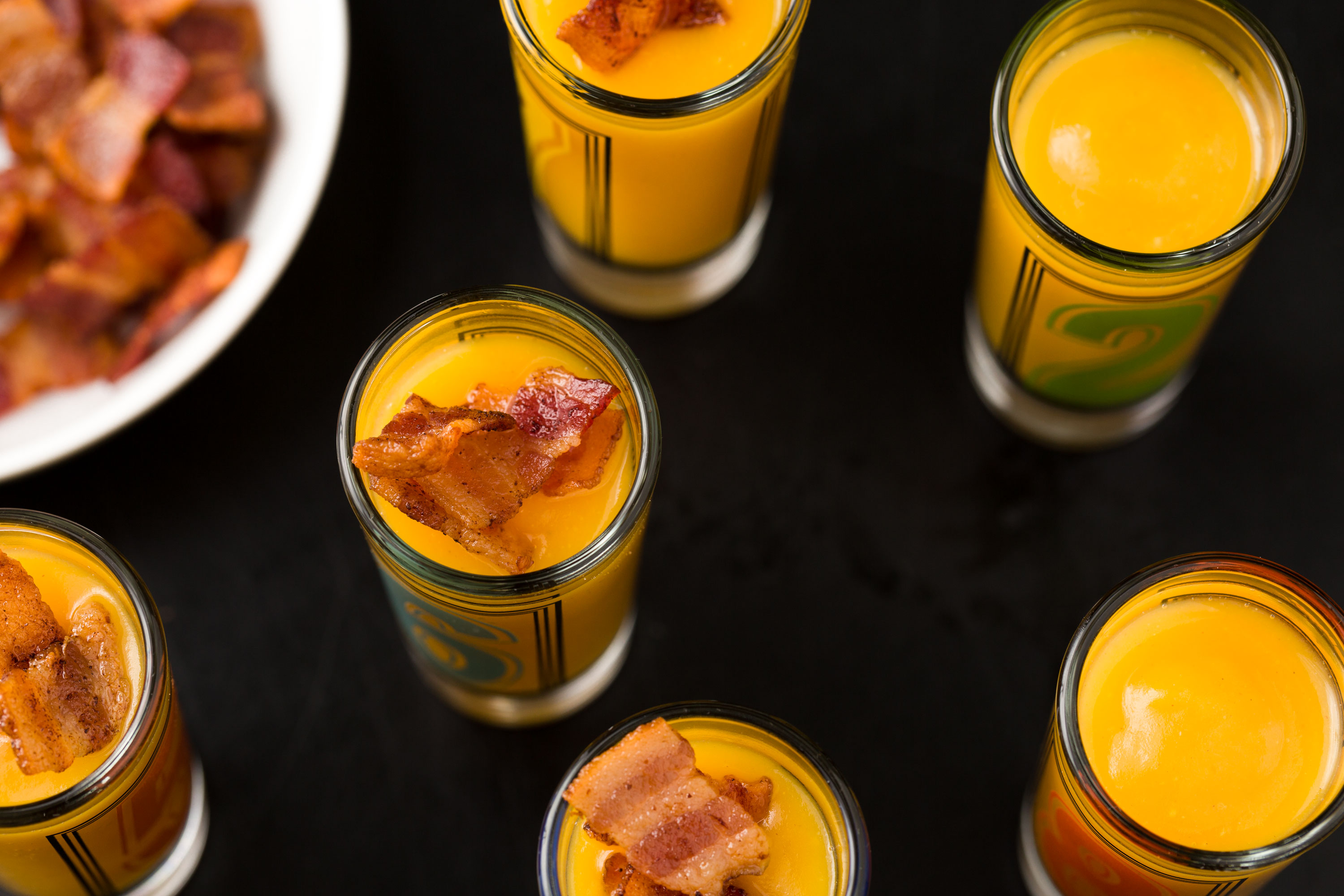 Butternut Squash Shooters with Bacon Recipe - How to Make Butternut ...