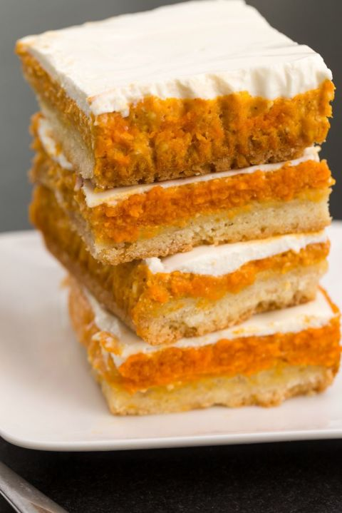 Pumpkin cheesecake layer bars