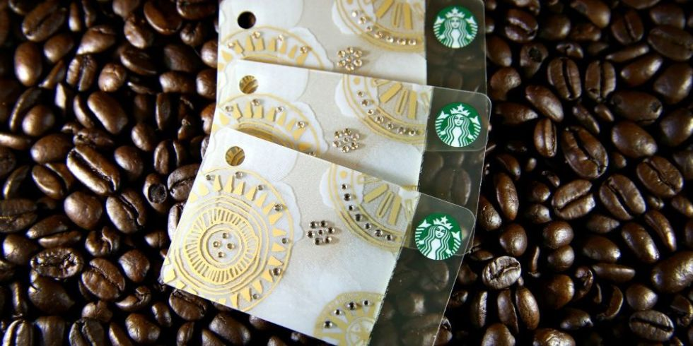 Starbucks new gift cards are pimped out with swarovski crystals the coffee chain is seriously bringing the bling starbucks negle Images