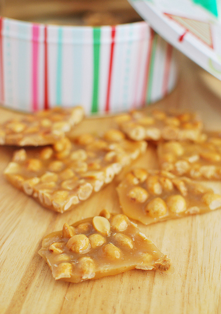 This homemade peanut brittle is amaze on top of other desserts, like ice cream or cupcakes. Get the recipe from Fake Ginger.