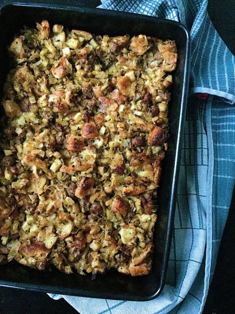 Torn fresh croissants make this stuffing extra rich and amazingly buttery.