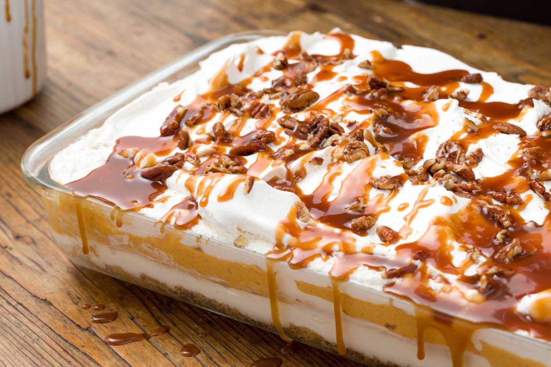 Pumpkin Cheesecake Lasagna Recipe - Delish.com