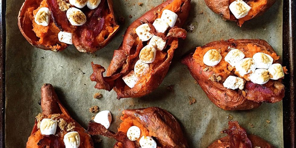 Baked twice potatoes recipes with bacon