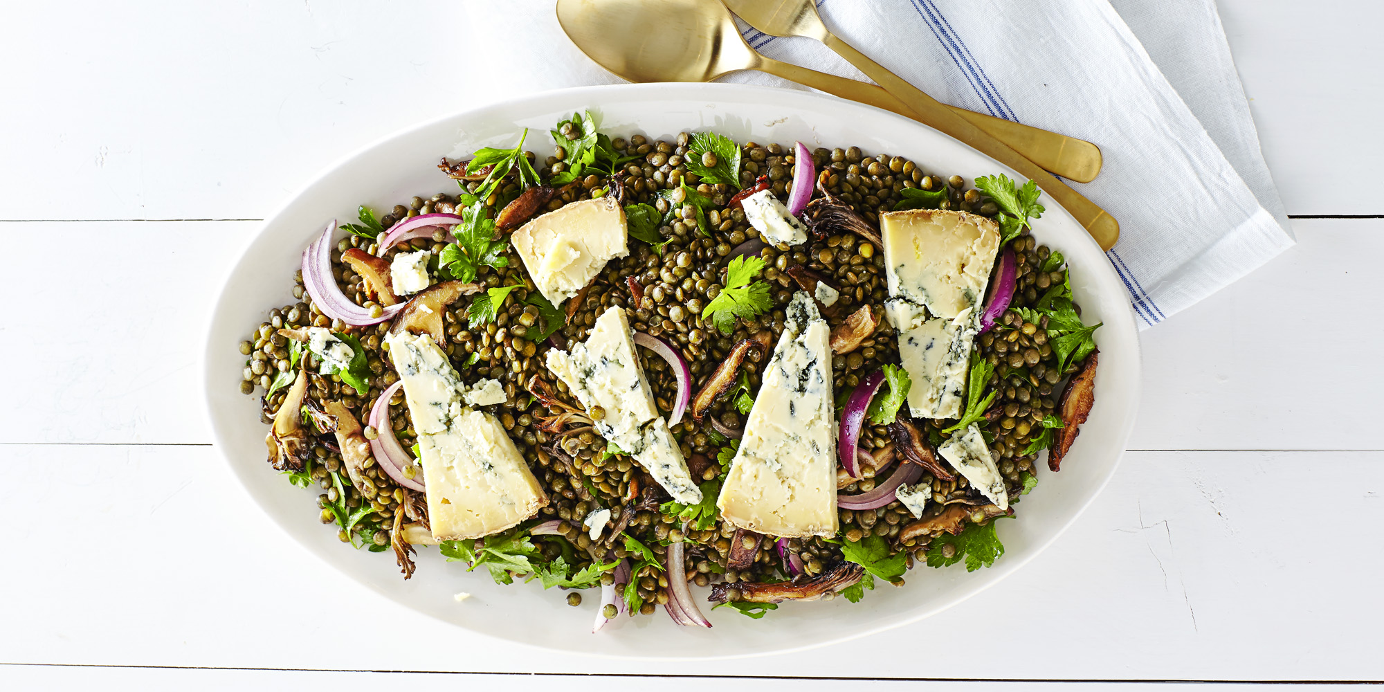 Wild Mushroom and Lentil Salad Recipe-How to Make Warm Wild Mushroom ...