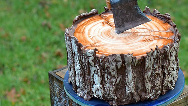 Tree stump cake recipe