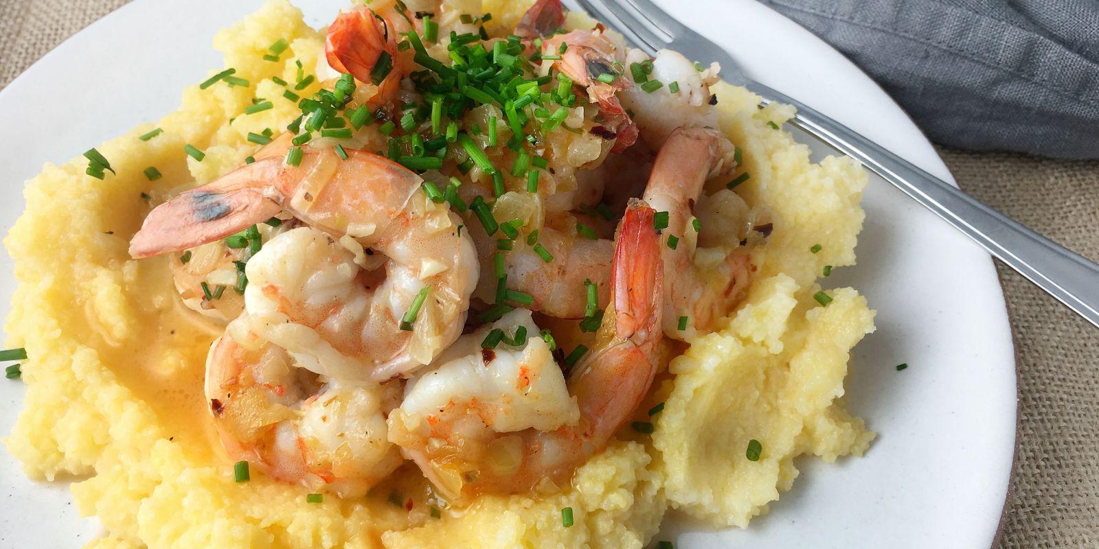 Best Shrimp Scampi With Creamy Polenta Recipe How To Make