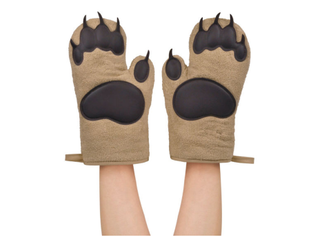 The only time it's acceptable to grab something out of the oven with your 'bear' hands. BUY NOW: $18
