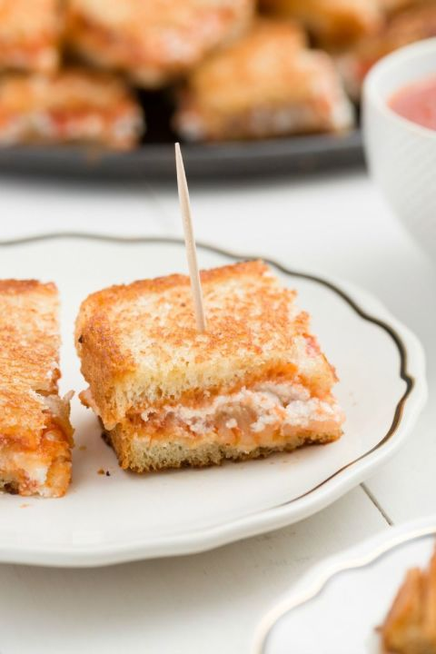 Lasagna Grilled Cheese Bites
