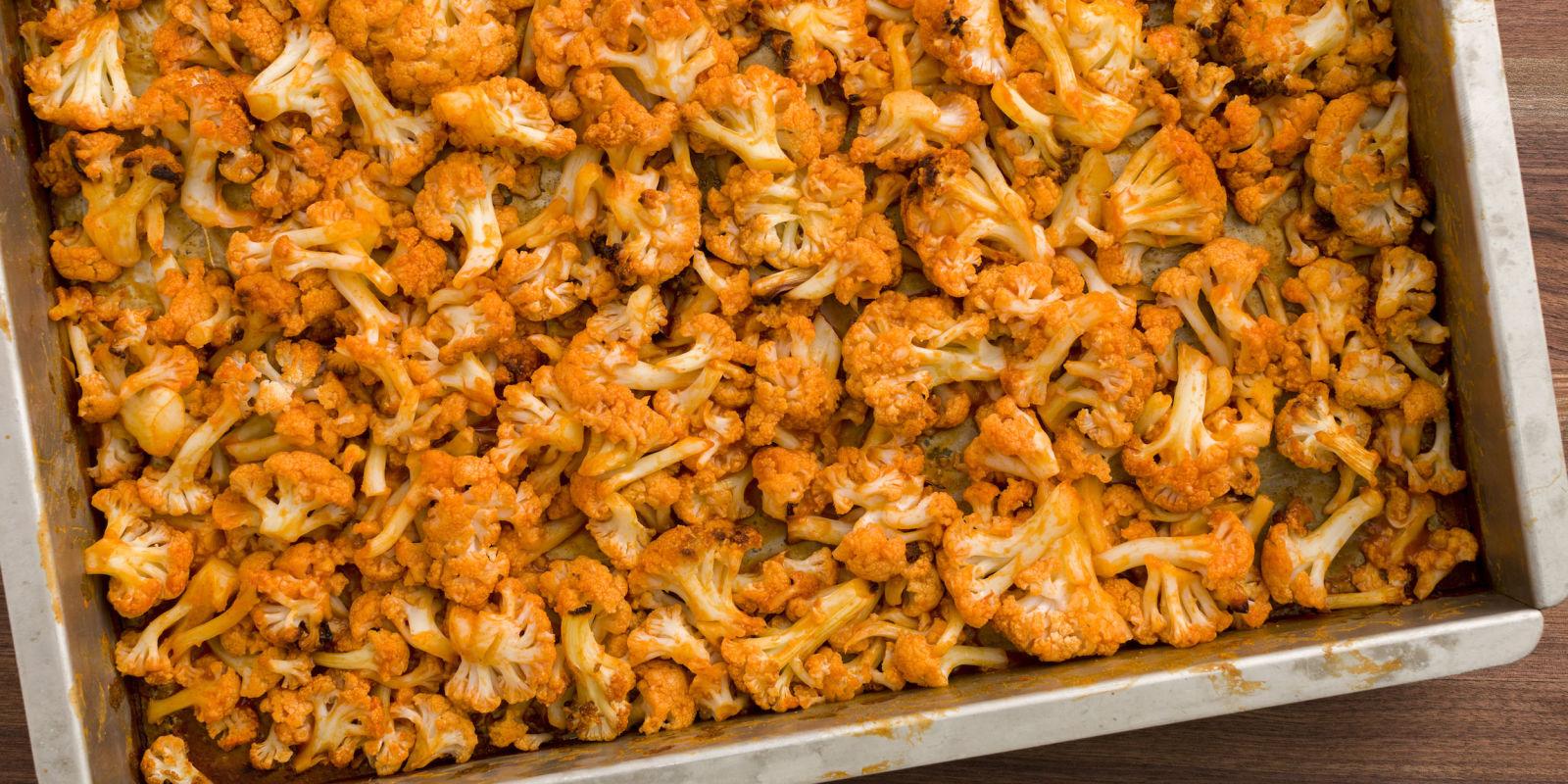 Best Buffalo Roasted Cauliflower Recipe - How to Make Buffalo Roasted ...