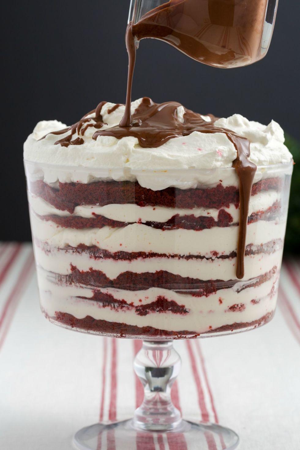 how to make white chocolate trifle