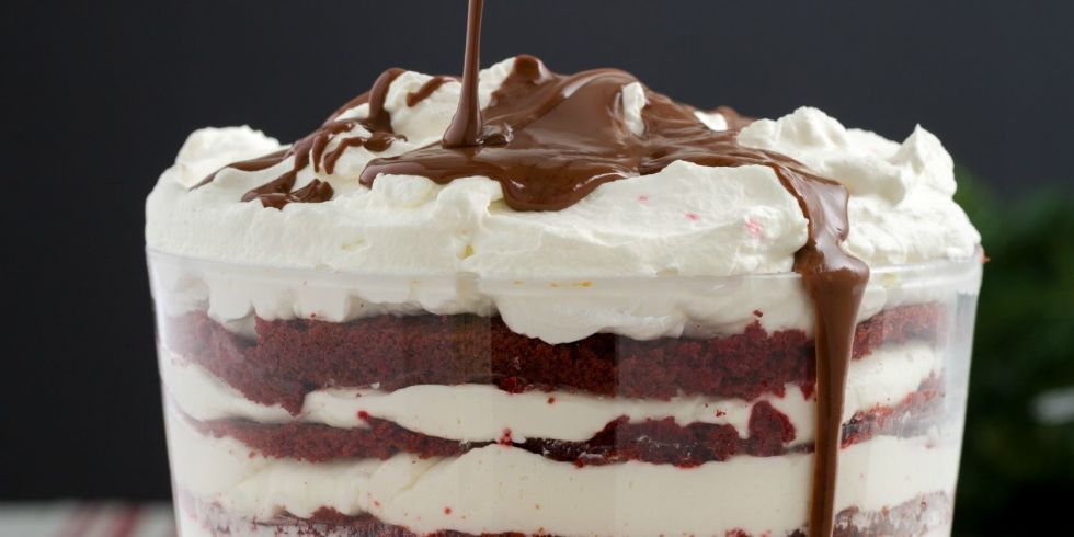 Best Red Velvet Trifle Recipe- How to Make a Red Velvet Trifle ...