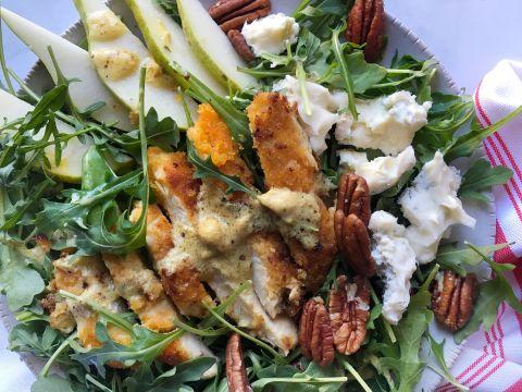 Gorgonzola Pear Chicken Salad