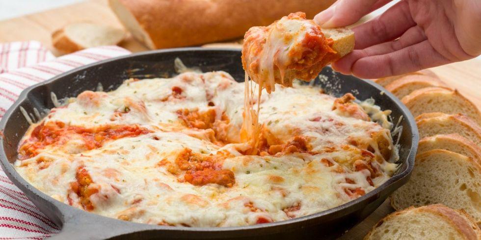 Skillet Chicken Parmesan Dip RecipeDelish.com