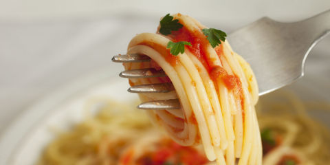 Spaghetti Twirl Close-Up