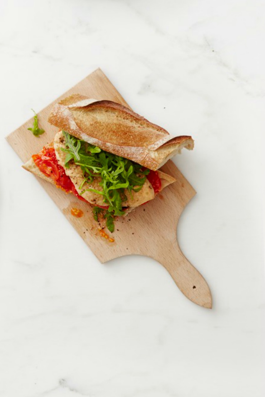 Best Parmesan Chicken And Roasted Tomato Sandwiches Recipe