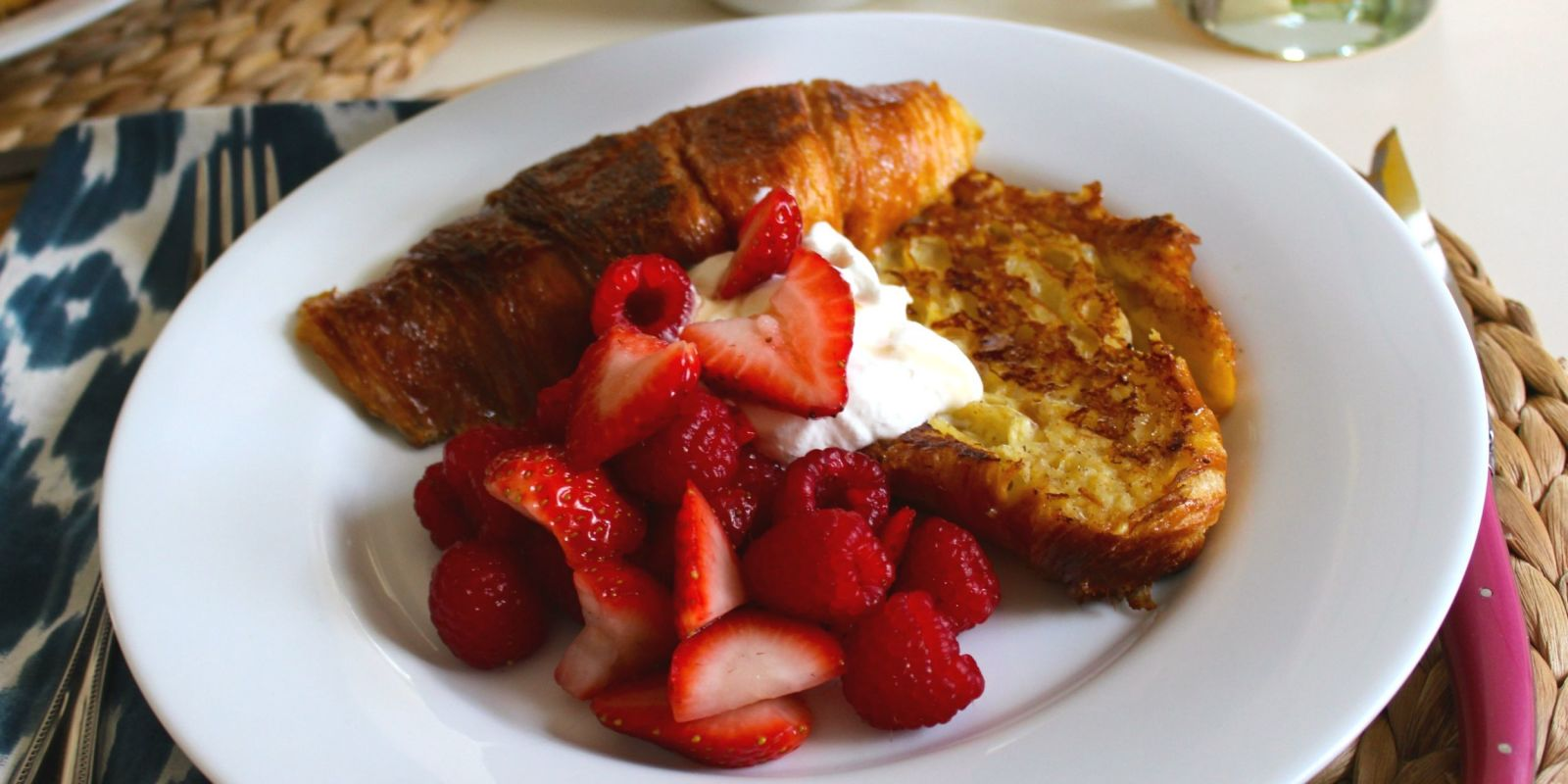 Croissant French Toast  How To Make Croissant French Toast  Delish