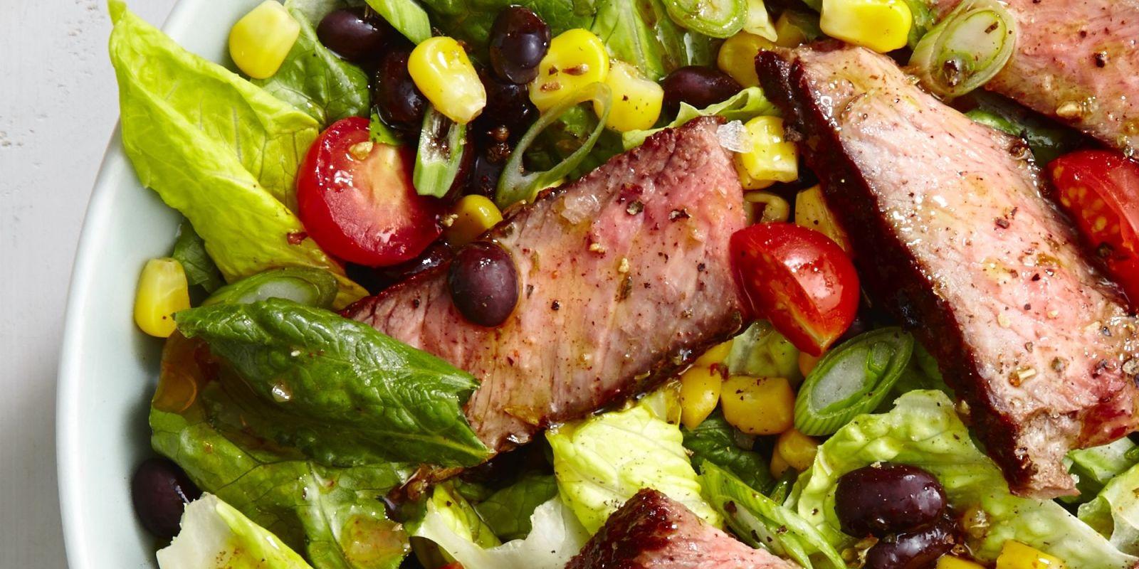 Best Steak Taco Salad Recipe - How to Make Steak Taco Salad