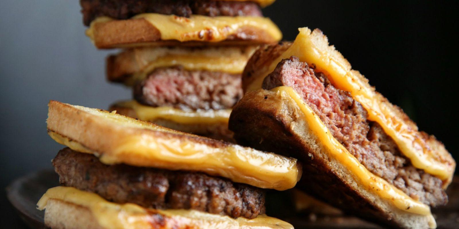 Sweet Barbecue Kim-cheese Burgers Recipe — Dishmaps