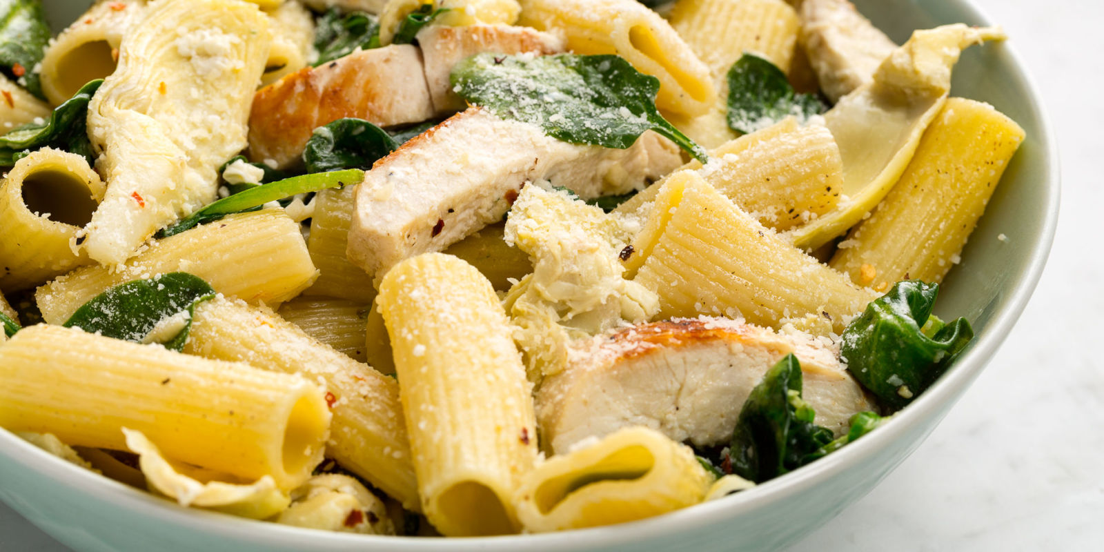 ... Rigatoni Recipe - How to Make Chicken, Spinach, and Artichoke Rigatoni