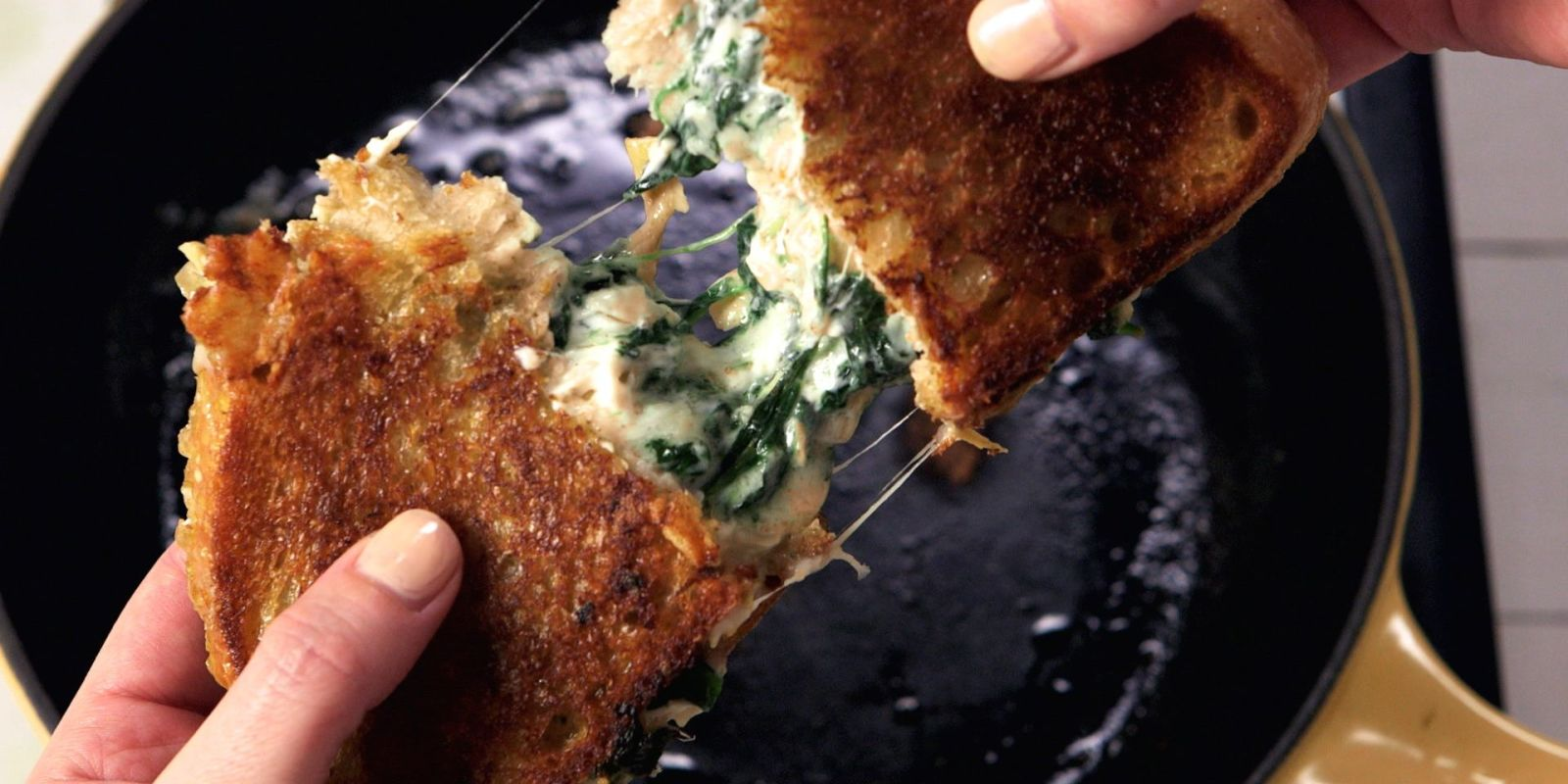 Best Spinach-Artichoke Dip Grilled Cheese Recipe - How to ...