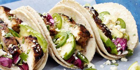 Coffee-Marinated BBQ Chicken Tacos